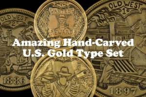Hobo Nickel Style Hand-Carved Old West U.S. Gold Type Set by Shane Hunter